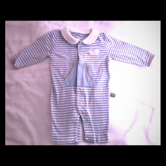 Bunnies by the Bay Other - Bunnies by the Bay Striped Baby Romper Sz 6-12 mo